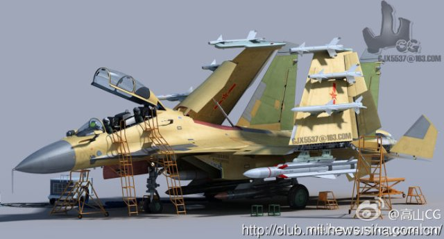 According to some Chinese websites, China is  developing the  double impact (training and combat) version  carrier-based  fighter J-15 (Su-27K clone).