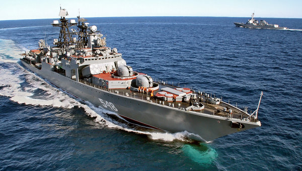 Russian Pacific Fleet warships enter Mediterranean