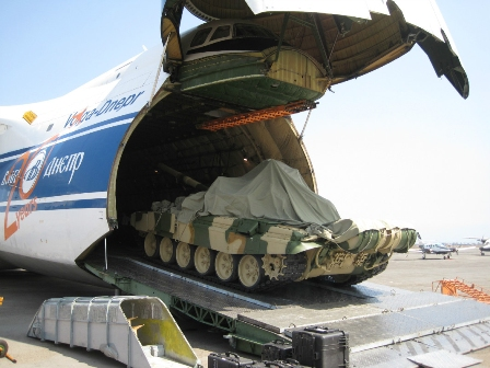 AN-124  delivered T-90S tanks  to Peru
