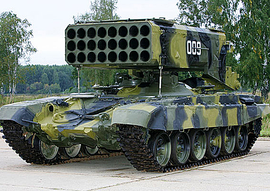TOS-1A - a heavy flamethrower system at an arms fair in Nizhny Tagil