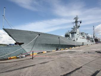 Pakistan Navy formally adopted the fourth  frigate of  project F-22P