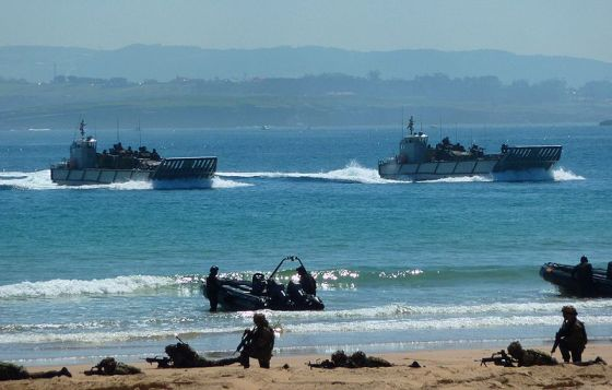 Spain has launched a head   LCM-1E type  landing craft for the Royal Australian Navy