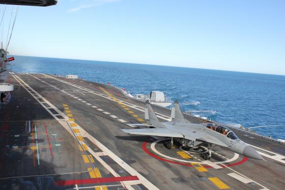 Indian Navy received five aircraft carrier-based aircraft