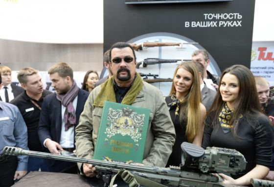 Steven Seagal plans to advertise weapons concern