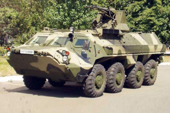 Ukrainian BTR-4 returned from Iraq to Ukraine