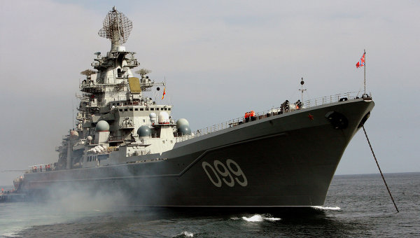 Russian Battlecruiser Receives Cypriot Minister During Resupply