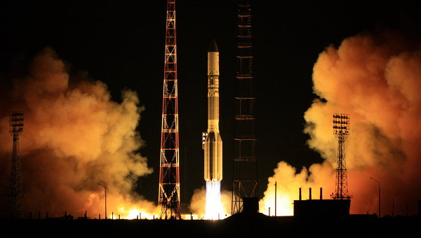 Proton-M Rocket Launches Kazakh, Russian Satellites