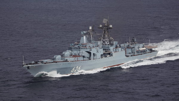 Russian Destroyer Joins Mediterranean Task Force