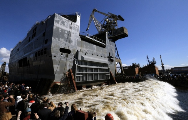 Russian Navy's spokesman denies one of two Mistral ships to be based in Crimea